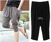 802X XXXL XXXXL XXXXXL Plus Super Size 2014 New Summer Fashion Loose Fat European Style Stretch Woman Women's Mid Harem Pants