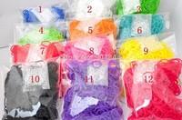 12 bags DIY Rubber Loom Refill Bands Rubber Band Bracelet (600 pcs bands + 24 pcs S-clips ) For Kids DIY Best Gift Free