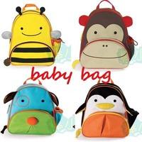 ZW015 Cute Kids Cartoon Kindergarten Children School Bags Animal School Kids Canvas Children Backpacks 32*27*10CM