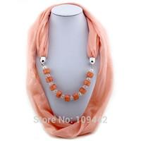 Bead Scarves Fashion Design Jewelry Scarf for Women with Chiffon GA0041