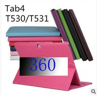 Galaxy Tab 4 covers ,360 Rotating PU Leather cover case For Samsung Galaxy Tab 4 10.1 T530 with stand