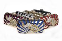 2014 Inew fashion items designer handbags high quality fashion lady ethnic bags of impression peafowl evening bag 8022