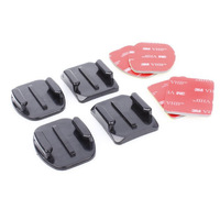 Gopro Accessories 2PCS Flat Adhesive Mount + 2PCS Curved Adhesive Mounts Replacment Kit For Go Pro Hero 2 3 Black Edition Camera