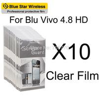 For BLU Vivo 4.8 HD High Quality 10 pcs/lot Clear Screen Protector Film For BLU Vivo 4.8 HD Screen Protector Free Shipping