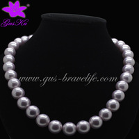 2014 Gus-FPN-038 Free shipping 12mm Classic pearl beads necklace