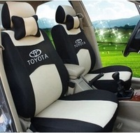 Seat Cover For TOYOTA Corolla Camry Rav4 universal size seat covers car styling New And Unique+logo+pillows+gift set lower Price