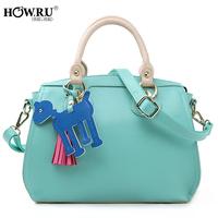 Howru 2014 spring and summer fashionable casual zipper type one shoulder cross-body handbag women's handbag