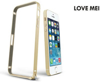 Original love mei Ultrathin metal bumper For iPhone5 aluminm case for iphone 5s phone cover for iphone 5 5s free ship bumper