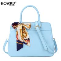 Howru 2014 fashion candy color sewing thread handbag one shoulder cross-body women's handbag