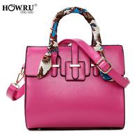 Howru 2014 candy color sewing thread portable women's one shoulder handbag