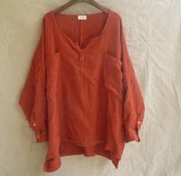 Free Shipping Double layer cotton V-neck loose plus size shirt fluid loose plus size women's fluid