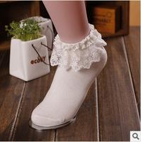 Japanese style Socks cute cos / Lolita dress pure Lace socks