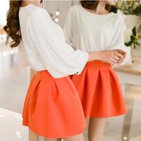 2014 spring women's Skirts short skirt high waist pleated puff skirt women's Skirts