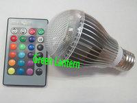 color change led light bulb E27 RGB led bulb 5W with remote controller