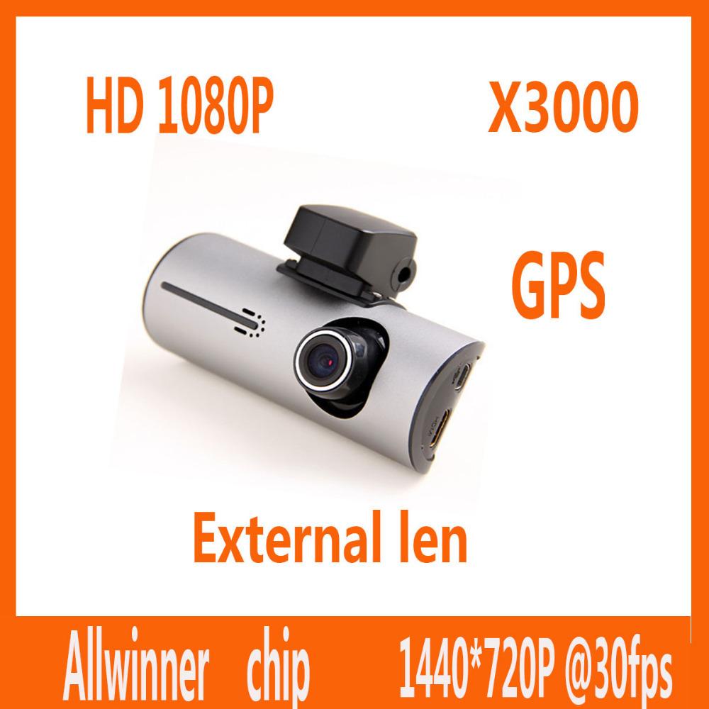 2014 neuankömmling x3000 gps auto dvr 720p hd-fahrzeug kamera recorder die registrator strich-cam Corder gps-modul r300 armaturenbrett