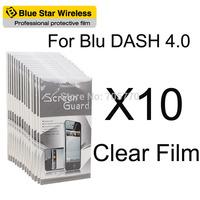 For BLU Dash 4.0 High Quality 10 pcs/lot Clear Screen Protector Film For BLU Dash 4.0 Screen Protector Free Shipping