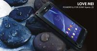 Original Love Mei Powerfull Waterproof Aluminum Cover Metal Case For SONY Xperia Z2 Z1 L50w Gorilla Glass MOQ:20pcs Free DHL