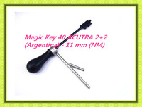 free shipping  2014 new product  2 in 1 picks decoders Magic Key 40 ACUTRA 2+2 (Argentina) - 11 mm (NM) car auto locksmith tools