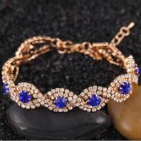 Brand Design Fashion Noble Elegant Charm Luxurious Full Gem Rhinestone Cross Infinity Bracelet Weddings Jewelry Wholesale PD26