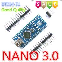 Free Shipping  2PCS/Lot Nano 3.0 ATmega328P-AU Mini-USB Board BTE14-01  no USB cable  hot sale