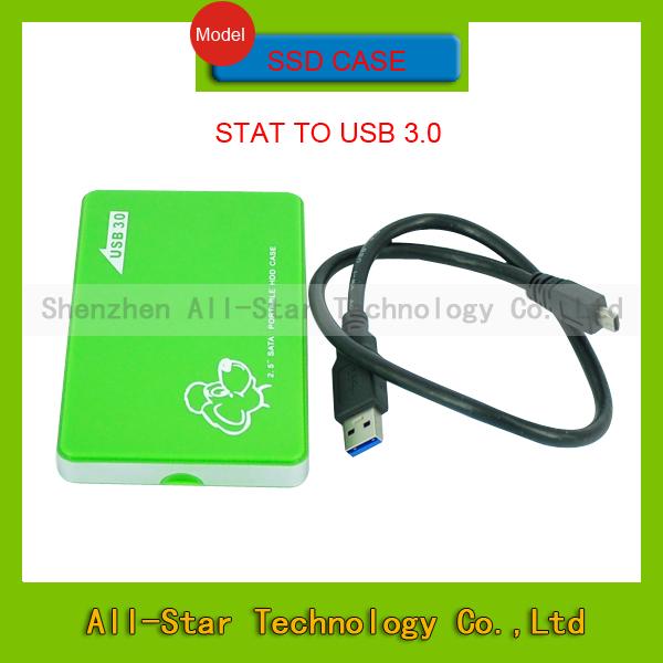 New 2.5 inch USB 3.0 HDD Case Hard Drive Disk SSD SATA External Storage Enclosure freeshipping(China (Mainland))