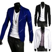 New Stylish Men Casual Slim Fit One Button Suit Blazer Coat Jackets