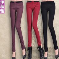 Autumn and winter thickening legging female plus size trousers plus velvet elastic pencil pants