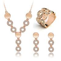 2014 new design  crystal  stone  jewelry set for women