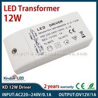 30pcs/lot DC 12V 1A 12W LED driver Power Supply transformer 220V 230V 240V 12V DC adaptor for 5050 3528 LED Strip light bulb