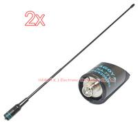 2x NA-771 DUAL BAND Antenna NA771 SMA-female for walkie talkie free shipping