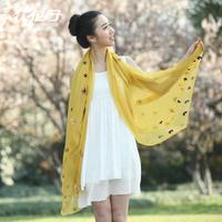 Chiffon summer sunscreen silk scarf 2014 female scarf spring and autumn chiffon beach cape long design