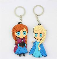 Free shipping 8cm frozen princess elsa anna olfa keychain