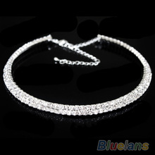 Hot Sale New Women Crystal Rhinestone Collar Necklace Choker Necklaces Wedding Birthday Jewelry 084O