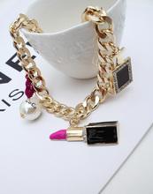 Free Shipping 2014 New 8 Styles Fashion Jewelry Elegant Big Cross Red Lips KISS Choker Necklaces