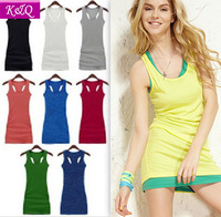 New 2014 Summer Candy Color Tank Top High Quality Slim Fit Long  tops For Women H Vest a top Free shipping