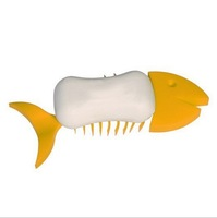 3 PCS/lot 2014 New Designed Fashion Practical Bathroom Fish Bone Shape soft Soap Dishes Soap Holder Soap Case Container
