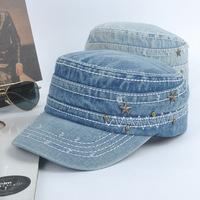 Hat women's summer cadet cap personality male fashion denim cap sun hat