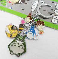Newest Anime Hayao Miyazaki Cosplay  Key Chain Ring Metal  Free Shipping