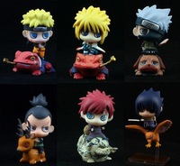 Naruto Action Figure Set of 6 Figures 6cm Naturo Sasuke Itachi Gaara Minato Shikamaru Doll Toys Best Gift Free shipping