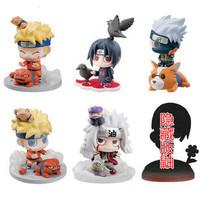 Naruto Q style Action Figure Set of 6 Figures 6cm Naturo Sasuke Itachi Uchiha JIRAIYA Doll Toys Best Gift Free shipping