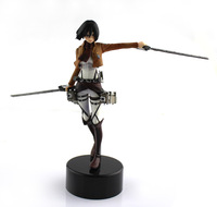 2013 New Amine Attack on Titan cosplay Mikasa  Action figure children chiristmas gift Collection Doll FREE SHIPPING