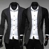 Fashion Mens Casual stripes Slim Fit Suit Blazer Coats Jackets
