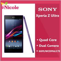 "XL39H Sony Xperia Z Ultra Original Unlocked GSM 3G&4G Android Quad-Core C6802 C6833 6.4"" 8MP GPS 16GB Storage Refurbished Phone"