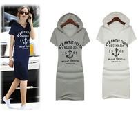 TUDW14119, 2014 New Arrival Fashion cotton knee-length dress , dress casual women ,have a plus 2xl ,4xl Free Shipping