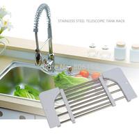 Telescopic Kitchen Sink Dish Rack Insert Countertop Storage Organizer Tray