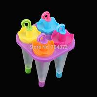 free shipping-2014NEW!  Creative Cartoon Frozen Sucker Ice Lolly Candy 4 Holes Mold umbrella shaped ice tray