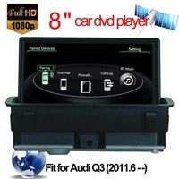 8 inch car dvd player for Audi Q3 radio with Bluetooth TV IPOD GPS Mp4/MP5 support 1080P video dvd navigation