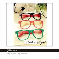 New 2014 Korean Brand Fashion Designer kids sunglasses Children plain glasses girls spectacles leopard vintage beach