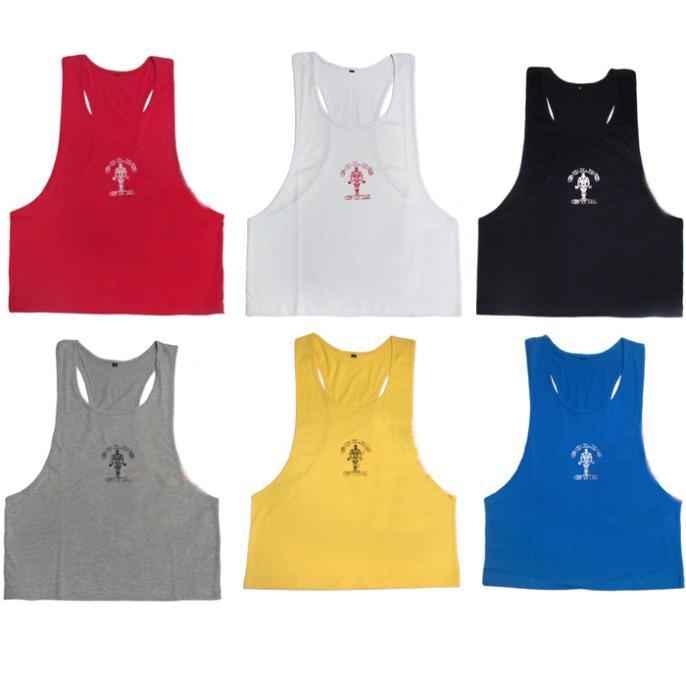 e0838 muscular dos homens tops para fitness musculação& 100% algodão homens profissional exercícios colete esporte frete grátis(China (Mainland))