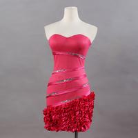 2014 Summer New Crystal Female One-Piece Strapless Dress Plus Size Flower Swing Basic Women's Slim Hip Slim Sexy Dresses